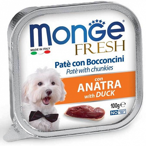 консерва Monge Dog Fresh Утка 100г